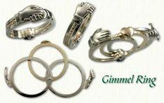 Betrothal, Gimmel, Claddaugh Rings by deSignet International