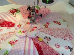 """Dresden """"Sweet as Sugar"""" cushion and quilt block 4x4 5x5 6x10 and 7x12 