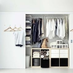 White bedroom wardrobe and clothes storage. For more like this, click the picture or visit RedOnline.co.uk