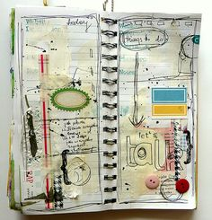 Zan's mother (Aidan) would definitely have a sketchbook-journal like this, and Rembrandt likely would, too...    love this journal/sketchbook/work of art.
