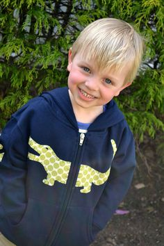 LATER GATOR Green Dot Alligator Applique Hoodie in Navy with Anchor Sleeve Sizes 2T-6T