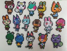Animal Crossing Perler Bead Magnets by MamasCraftscradke on Etsy