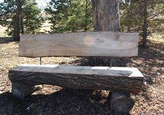 Recycled-Hardwood-Log-Benches
