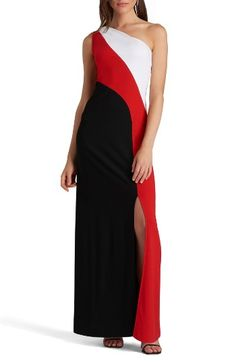 5ce97649a82 ECI One-Shoulder Colorblock Maxi Dress