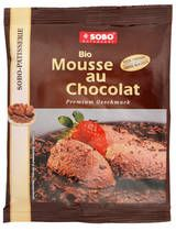 Sobo Naturkost from Germany procuces this biological Mousse au Chocolat. Within an instant, you'll get a great Mousse. Just add water and/or cream.