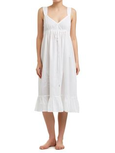 351763cd9c Sussan - Sleepwear - White Romance - Embroidered sleeveless nightie