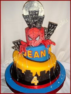 TORTA DECORADA DE SPIDERMAN / TORTA DECORADA DEL HOMBRE ARAÑA | TORTAS CAKES BY MONICA FRACCHIA