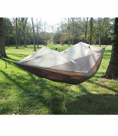 Love your hammock so much you want to sleep outside in it? Now you can without the mosquitos. LL Bean