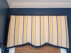 Foam Core Cornice  Rhoda fromSouthern Hospitalityused inexpensive foam core to create cornices for her bathroom. Some remnant fabric and pretty trim make this budget-friendly design look higher end. Foam core is easy to cut with a craft knife, so the shape can be customized for any window.