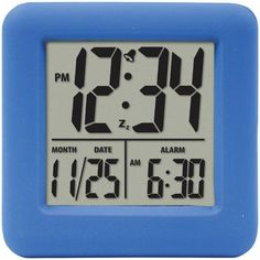 EQUITY BY LA CROSSE 70905 Soft Cube LCD Alarm Clock (Blue)