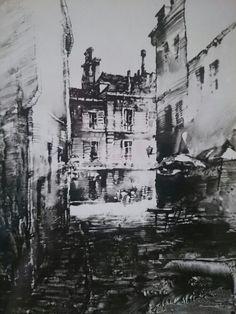 Jacek Jaroszewski -Paris- gouache, 1983