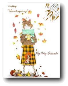 """Happy Thanksgiving"" by lillibunneh ❤ liked on Polyvore featuring art"