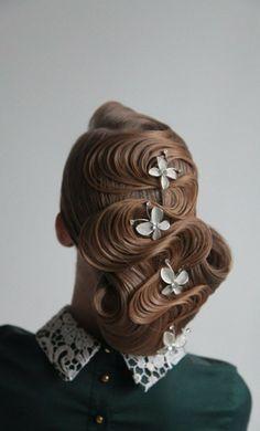 www.weddbook.com everything about wedding ♥ Artistic wedding hair design #wedding #hair ##weddbook #hairstyle