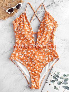 Red Bandeau Bikini, Ruffle Swimsuit, Floral Swimsuit, Bikini Tops, Bikini Girls, Target Bathing Suits, Cute Bathing Suits, Cute Swimsuits, Women Swimsuits