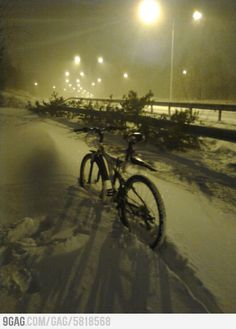 Meanwhile, in Finland.. yep, I have experience of cycling in the snow, not funniest way to travel...