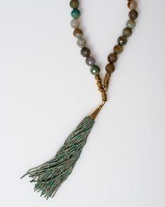 Sisco Berluti Marrakesh Necklace in Green Agate