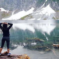 Hiked so high to an altitude where there was snow ❄️ just wow // #LakeSerene #PNW #WA