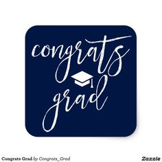 Congrats Grad Square Sticker