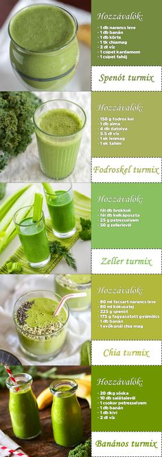 Újabb egyszerű zöldturmix receptek #zöldturmix Healthy Juices, Healthy Drinks, Healthy Recipes, Smoothie Bowl, Smoothies, Health Eating, Food Hacks, Healthy Life, Food To Make