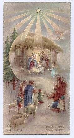 We need to spread that Christmas joy to the people around… Christmas Scenes, Christmas Nativity, Christmas Past, Christmas Pictures, Christmas Greetings, Christmas Crafts, Xmas, Vintage Holy Cards, Vintage Christmas Cards