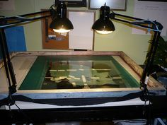 Exposing a Silk Screen at Home by michelle saintonge, via Flickr/ how to set up a studio