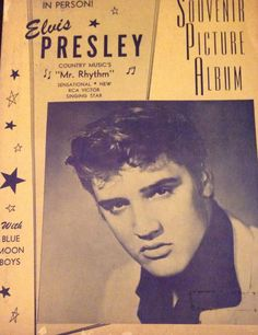 """Cover """"Mr. Rhythm"""" souvenir picture Album - Elvis Presley 