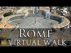 Piazza Navona to St. Peter's Square Rome Virtual Walk in Part 5 Virtual Museum Tours, Virtual Tour, Virtual World, Kids Learning Activities, Home Learning, Virtual Travel, Virtual Field Trips, Piazza Navona, Home Schooling