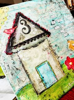 house collage - love the doodles Mixed Media Journal, Mixed Media Canvas, Mixed Media Collage, Art Journal Techniques, Journal Art, Art Journals, Collage Artwork, Collage Ideas, Canvas Frame