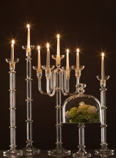 Glass Candle Holders - special occasions, elegant - wedding decorationsShop on: www.gabrielaseres.com Glass Candle, Elegant Wedding, Candle Holders, Wedding Decorations, Chandelier, Ceiling Lights, Candles, Handmade, Home Decor