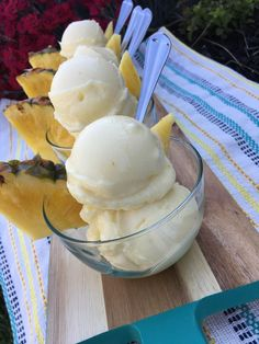 Frozen Whipped Pineapple