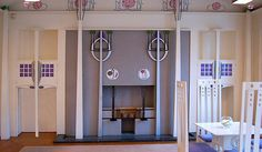 Room by Charles Rennie Mackintosh - House For An Art Lover, Glasgow.