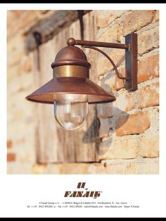 TOUCH this image IL Borgo Wall Light Frame of pre aged brass copper and. by Agatha & Beacon Lighting - Villa 1 light medium exterior wall bracket in ... azcodes.com