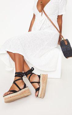 482cd670df9 Niella Black Espadrille Flatform Sandals Ibiza Outfits