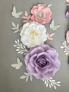 Tissue Paper Flowers, Paper Flower Wall, Paper Flower Backdrop, Paper Roses, Paper Flowers Wall Decor, Large Paper Flowers, Purple Nursery Decor, Blush Nursery, Flower Nursery