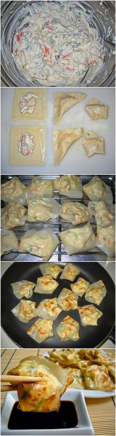 lobster & cream cheese wontons