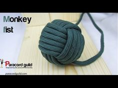 Paracordist how to tie a monkeys fist knot w/ 2 paracord strands out for a self defense keychain - YouTube