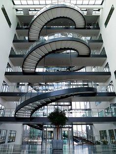 Escales de cargol Havneholmen Atrium, Copenhagen