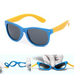 POLARSNOW  TR90 Frame Sunglasses For Kids Boys Girls Polaized Goggle Sun Glasses Fashion Children UV400 Eyewear Accessories Who like it ? Visit us