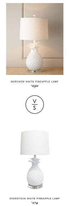 @horchow White Pineapple Lamp $250 Vs @overstock White Pineapple Lamp $174
