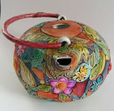 My teapots-polymer clay