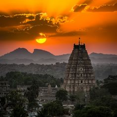 Hampi Sunset 2 by Kevin Standage