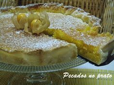 Pecados no prato: Tarte delicia de coco Tart Recipes, Sweet Recipes, Cooking Recipes, Cheesecakes, Cake Piping, Cupcakes, Portuguese Recipes, Mexican Dishes, Desert Recipes