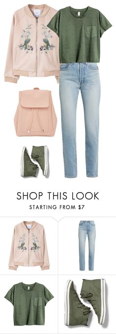 """Untitled #1578"" by polylana ❤ liked on Polyvore featuring MANGO, Yves Saint Laurent, Keds and New Look"
