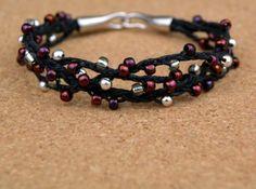Marsala and Silver Woven Bead Bracelet | AllFreeJewelryMaking.com