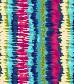 Blizzard Fleece Fabric-Tie Dye Stripe
