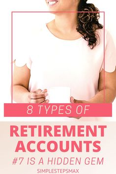 Don't get overwhelmed by the different types of retirement accounts available to you. Learn about the different individual retirement account options. Option #7 is the best! #retirement #financialtips #investing #moneytips Retirement Savings Plan, Retirement Accounts, Saving For Retirement, Early Retirement, Financial Tips, Financial Planning, Roth Account, Employer Identification Number, Individual Retirement Account