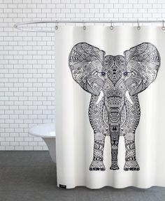 Aztec Elephant als Duschvorhang von Monika Strigel | JUNIQE