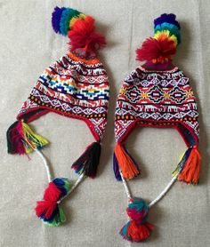 Peruvian Hat. Chullo Peruano. 1 piece. by ZoeArtsnCrafts on Etsy