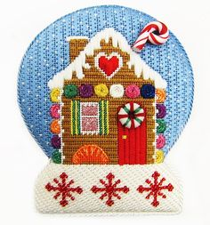 A Collection of Designs (now Burnett & Bradley) needlepoint gingerbread house