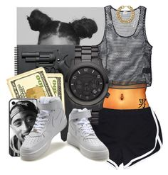 """""""$$$$$"""" by i-never-gave-a-fvck ❤ liked on Polyvore featuring NIKE, Yves Saint Laurent, Revolver and Michael Kors"""